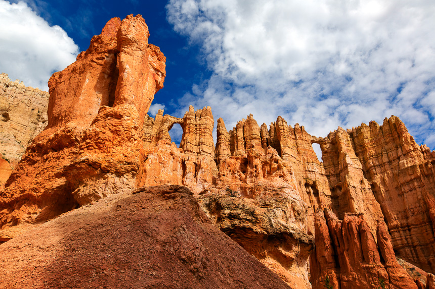 a photograph of the wall of windows located in bryce canyon national park utah