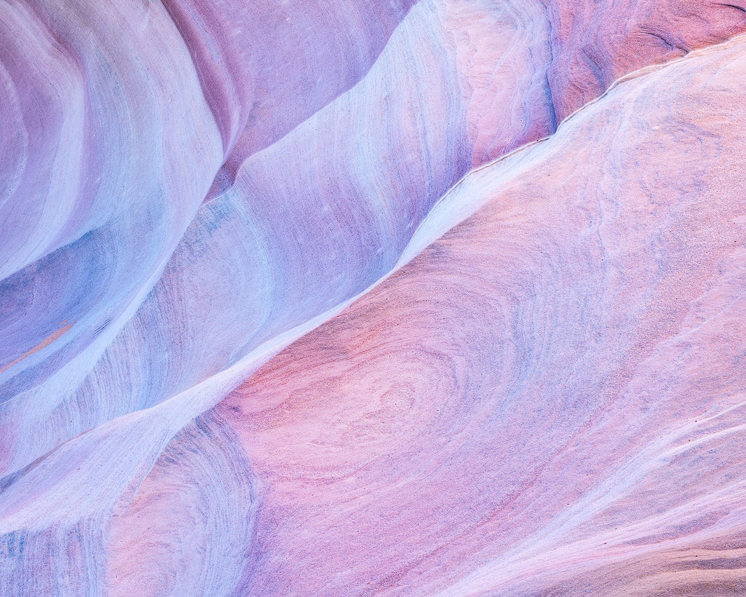 Abstract photo of pink colored sandstone rock in the Nevada Desert